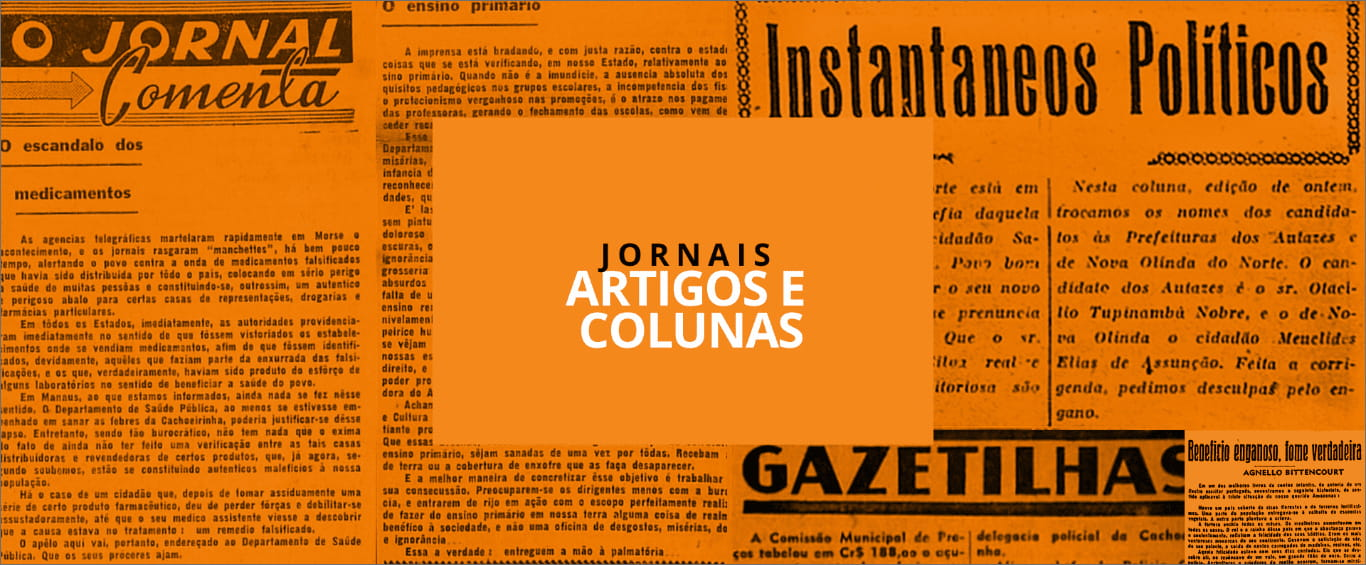 backgroung artigos de jornais - Instituto Durango Duarte