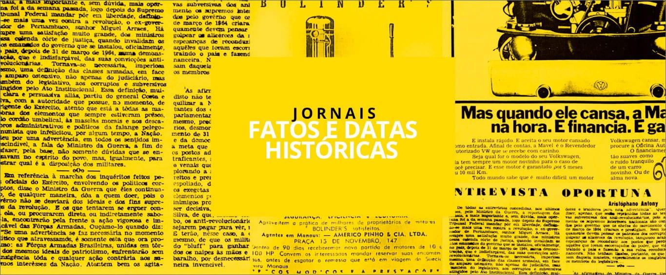 Background Fatos e Datas Históricas de Jornais - Instituto Durango Duarte