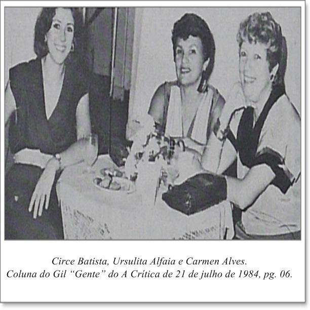 Circe Batista, Ursulita Alfaia e Carmen Alves - Instituto Durango Duarte 1984