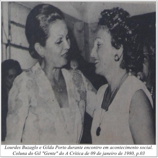Lourdes Buzaglo e Gilda Porto no Verdecap - Instituto Durango Duarte 1980