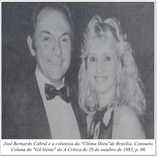 Bernardo Cabral e Consuelo - Instituto Durango Duarte 1985