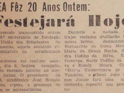 20 anos da União dos Estudantes do Amazonas