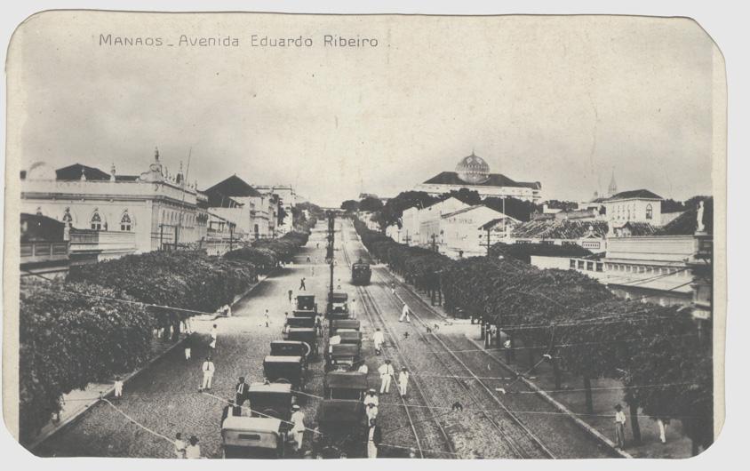227 - Cartão-Postal da Avenida Eduardo Ribeiro