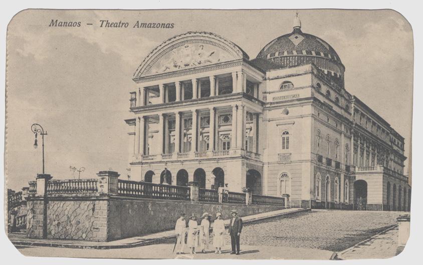 Cartão-postal do Teatro Amazonas - Instituto Durango Duarte
