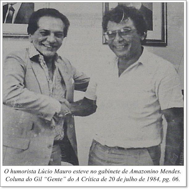 Lúcio Mauro e Amazonino Mendes - Instituto Durango Duarte 1984