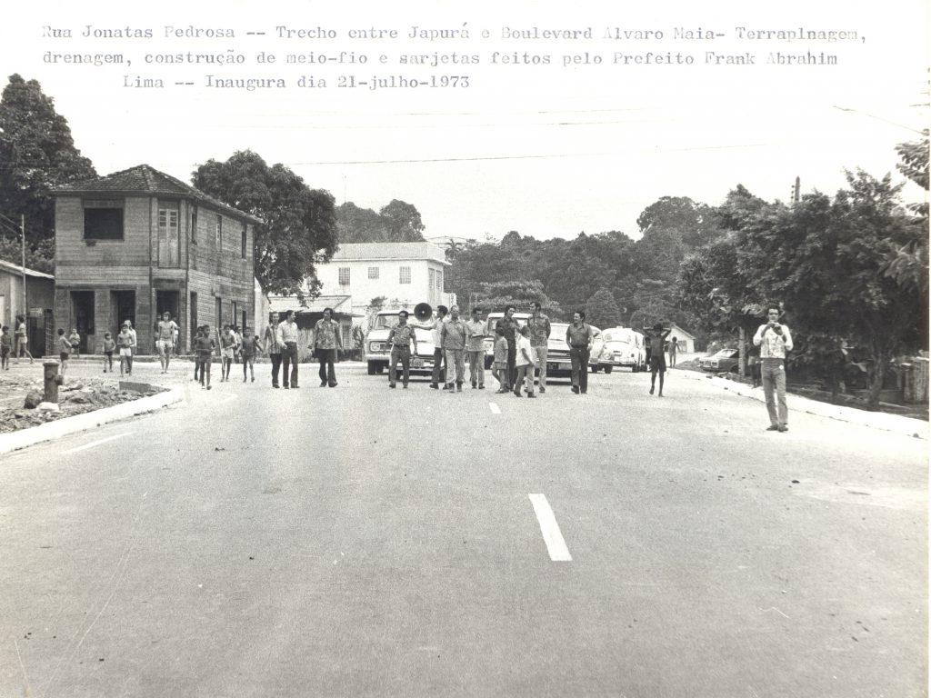 Trecho da Rua Jonathas Pedrosa em 1973 - Instituto Durango Duarte