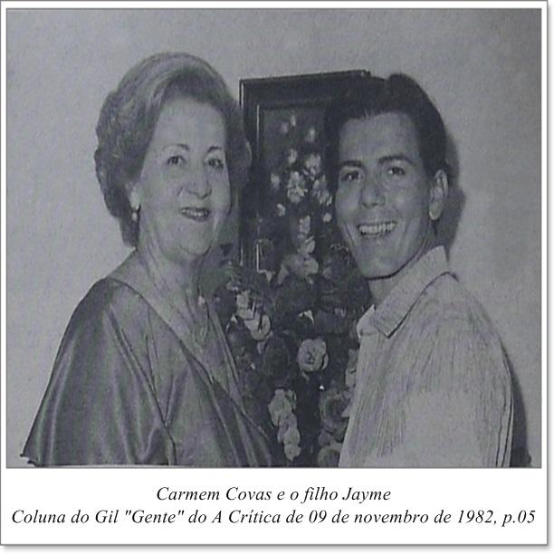 Jayme homenageia a mãe Carmen Covas - Instituto Durango Duarte 1982