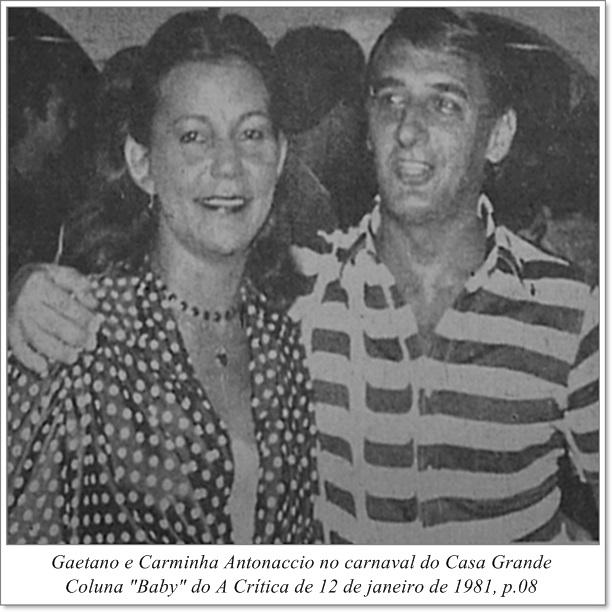 Gaetano e Carminha Antonaccio - Instituto Durango Duarte 1981