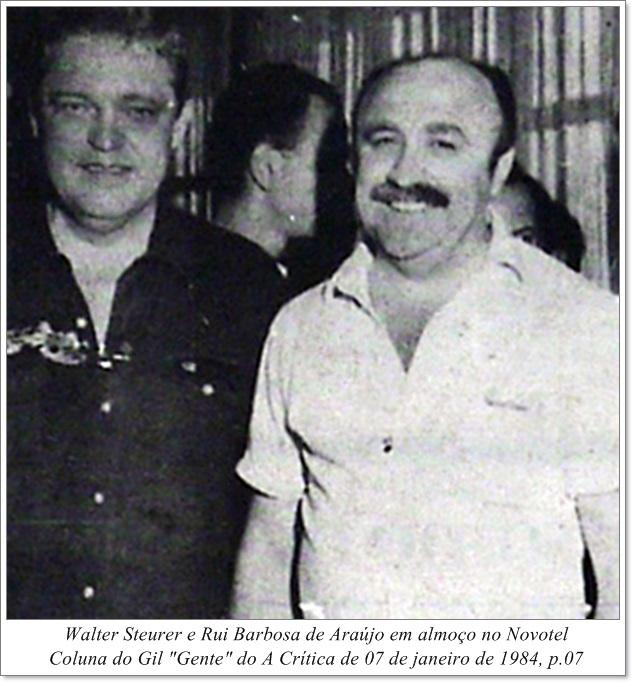 Walter Steurer e Rui Barbosa de Araújo no Novotel - IDD 1984