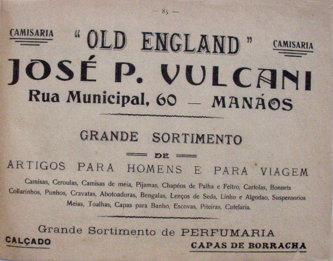 Propaganda da Camisaria Old England