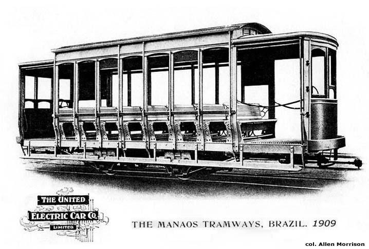 Imagem do bonde da Manáos Tramways & Light Company Limited - IDD