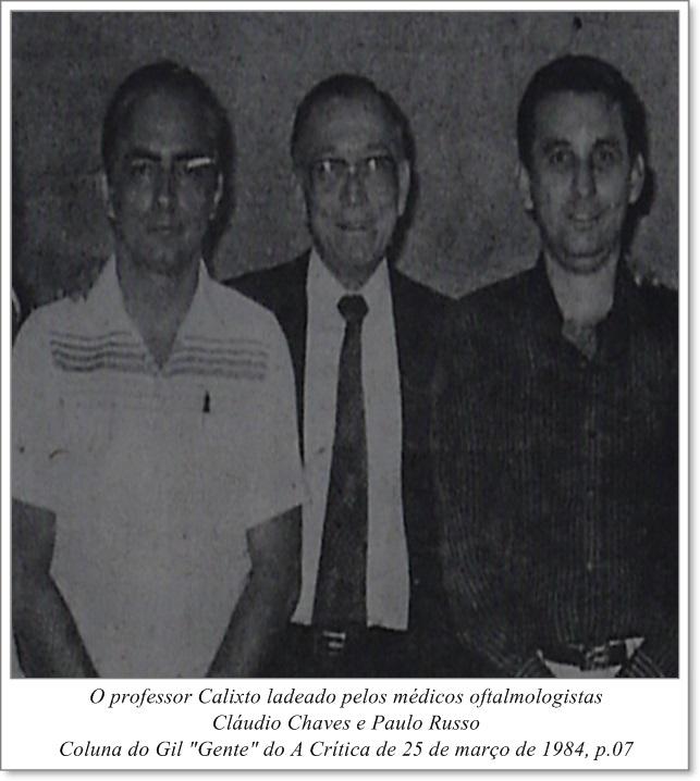 Calixto, Cláudio Chaves e Paulo Russo - Instituto Durango Duarte 1984