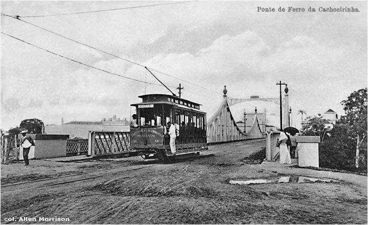Bonde na ponte metálica Benjamin Constant - Instituto Durango Duarte