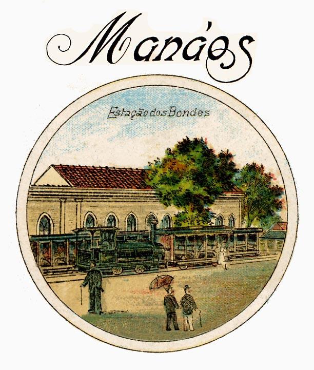 """Cartão-postal """"Lembranças de Manáos"""" - Instituto Durango Duarte"""
