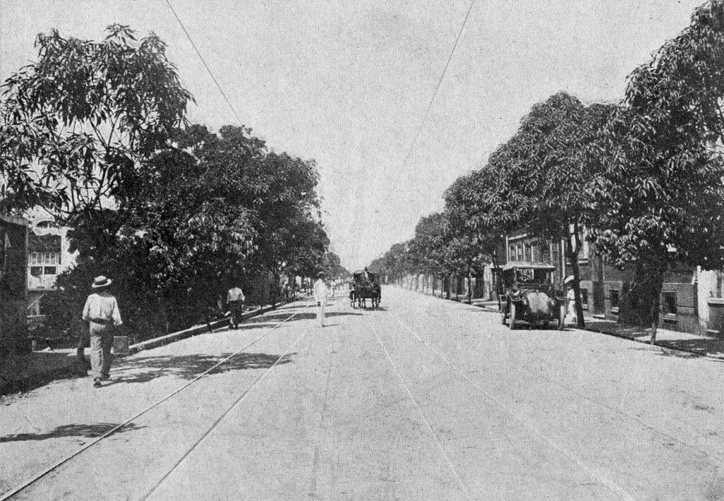 Trecho da Avenida Joaquim Nabuco em 1910 - Instituto Durango Duarte