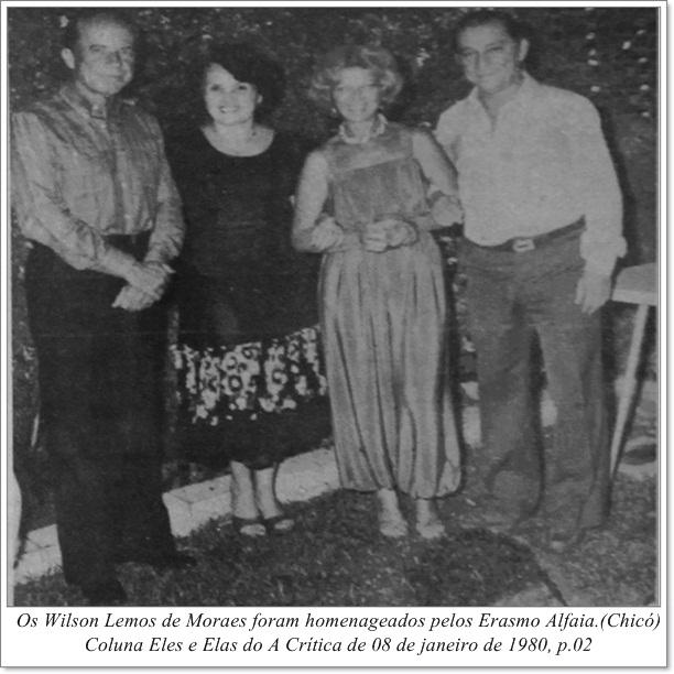 Homenagem aos Wilson Lemos de Moraes - Instituto Durango Duarte 1980
