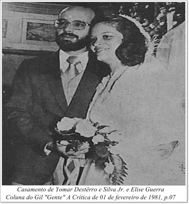 Casamento de Yomar Destêrro e Elise Guerra - Instituto Durango Duarte 1981