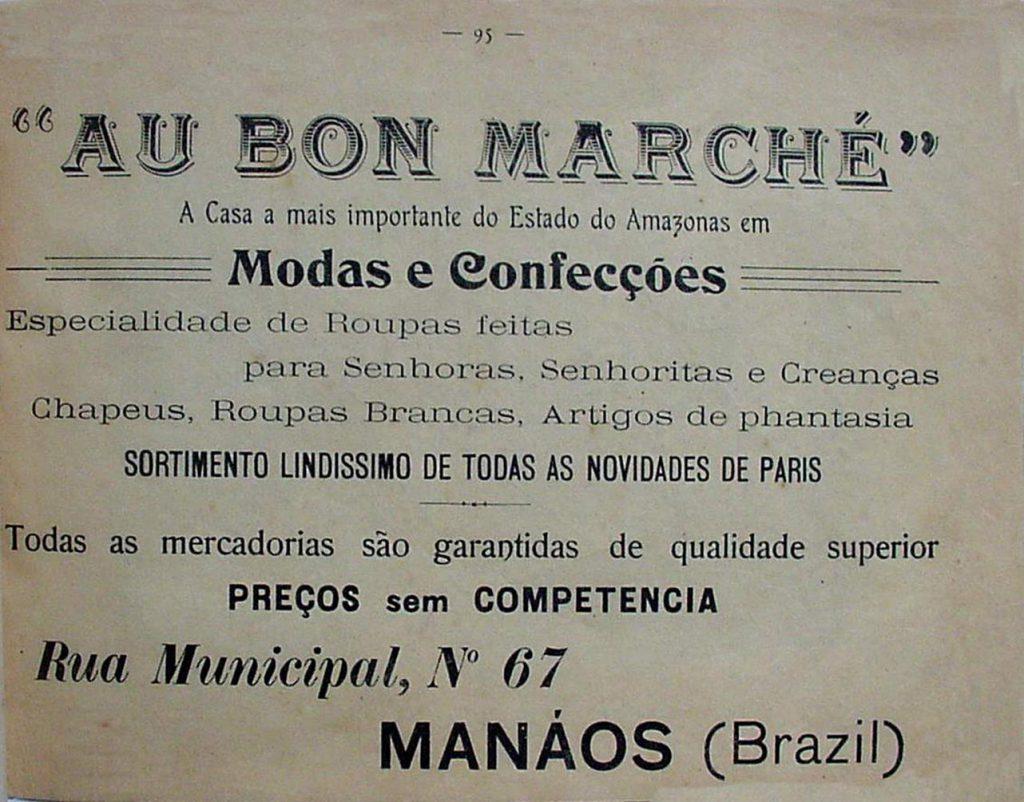 Propaganda da Casa de Moda Au Bon Marché