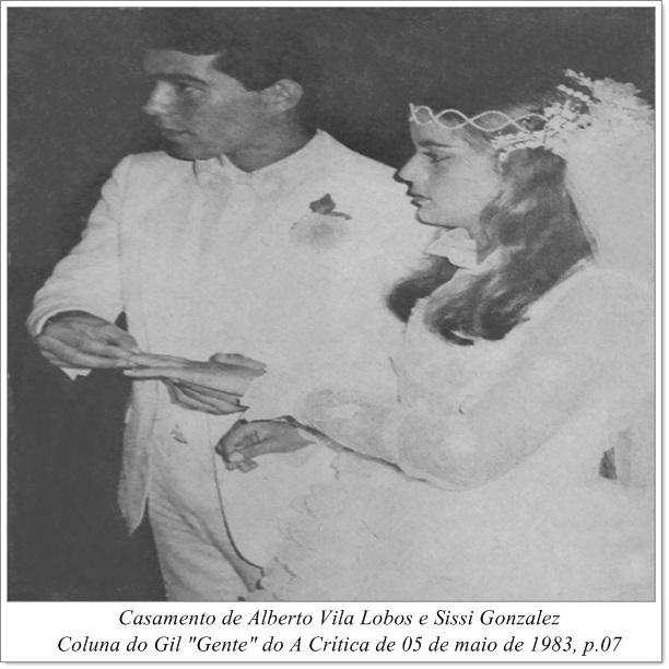 Casamento de Alberto Vila Lobos e Sissi Gonzalez - IDD 1983
