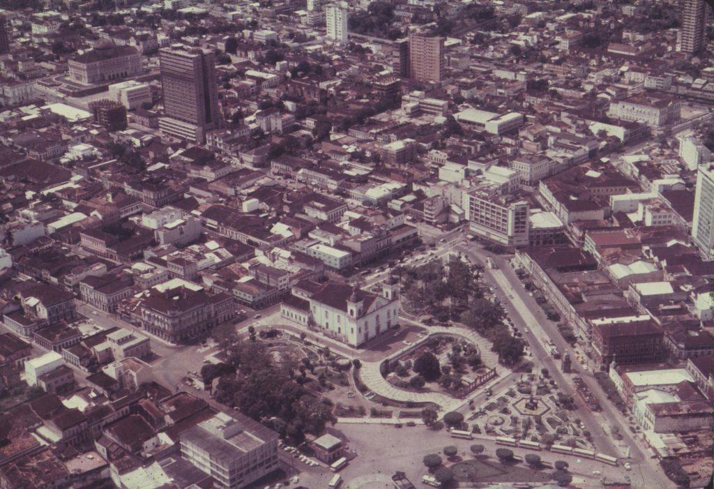 Vista aérea do Centro Histórico de Manaus - Instituto Durango Duarte