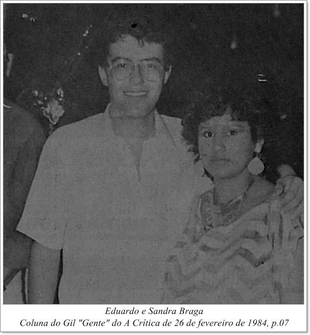 Eduardo e Sandra Braga - Instituto Durango Duarte 1984