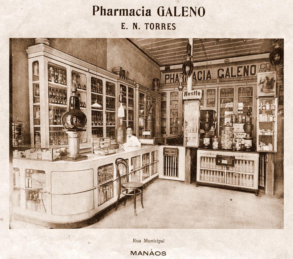 Parte Interior da Farmácia Galeno