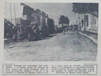 Asfaltamento da Rua Visconde de Porto Alegre