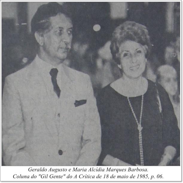 Geraldo Augusto e Maria Alcídia Marques Barbosa - IDD 1985