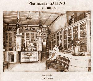 Interior da Farmácia Galeno