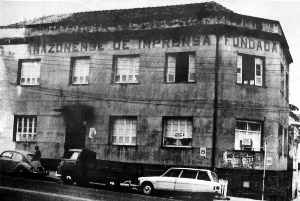 Fotografia do antigo prédio da Associação Amazonense da Imprensa
