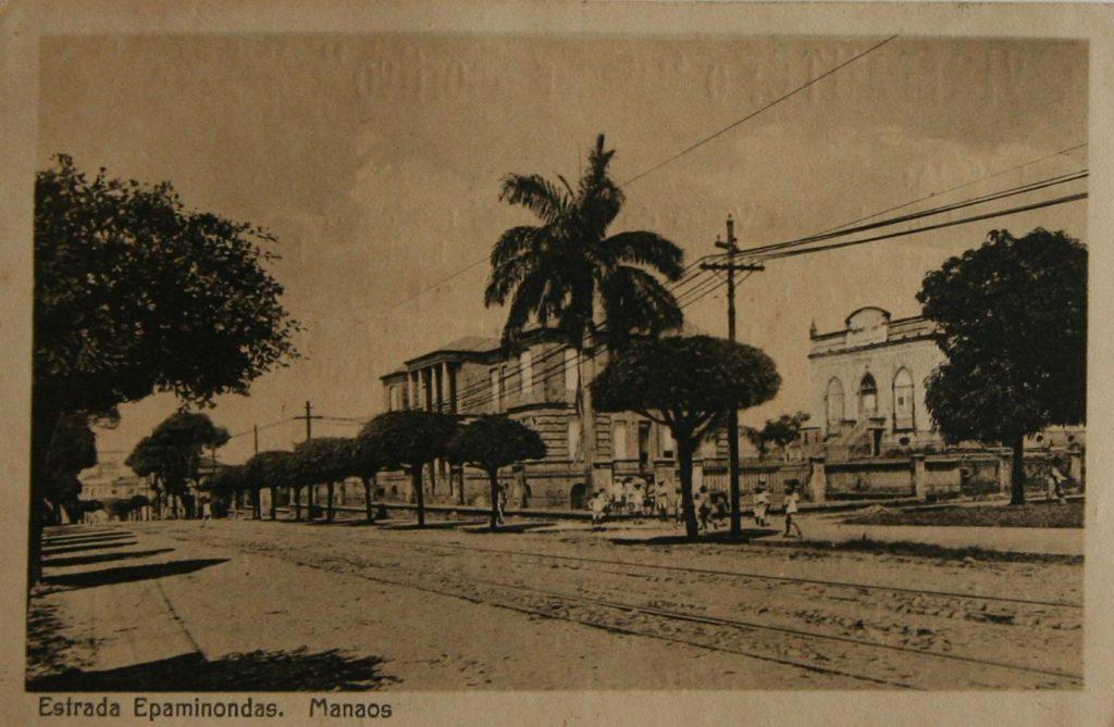 Cartão-postal da Estrada Epaminondas - Instituto Durango Duarte