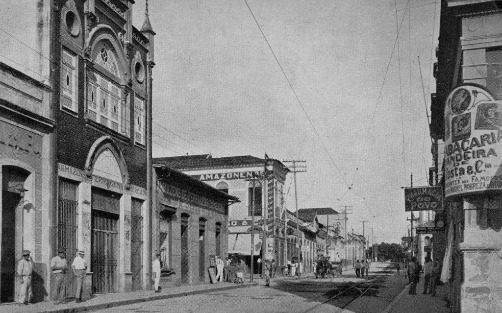 Trecho da Rua dos Barés no Centro de Manaus - Instituto Durango Duarte