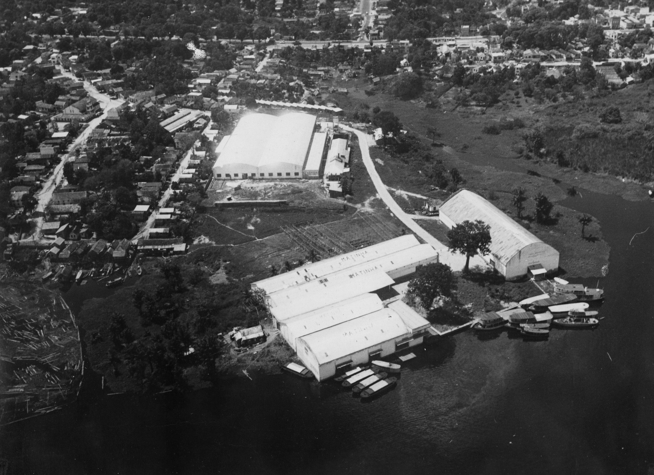 Vista aérea da Fábrica de Tecelagem Matinha