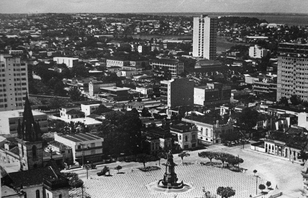 Vista aérea da praça de São Sebastião