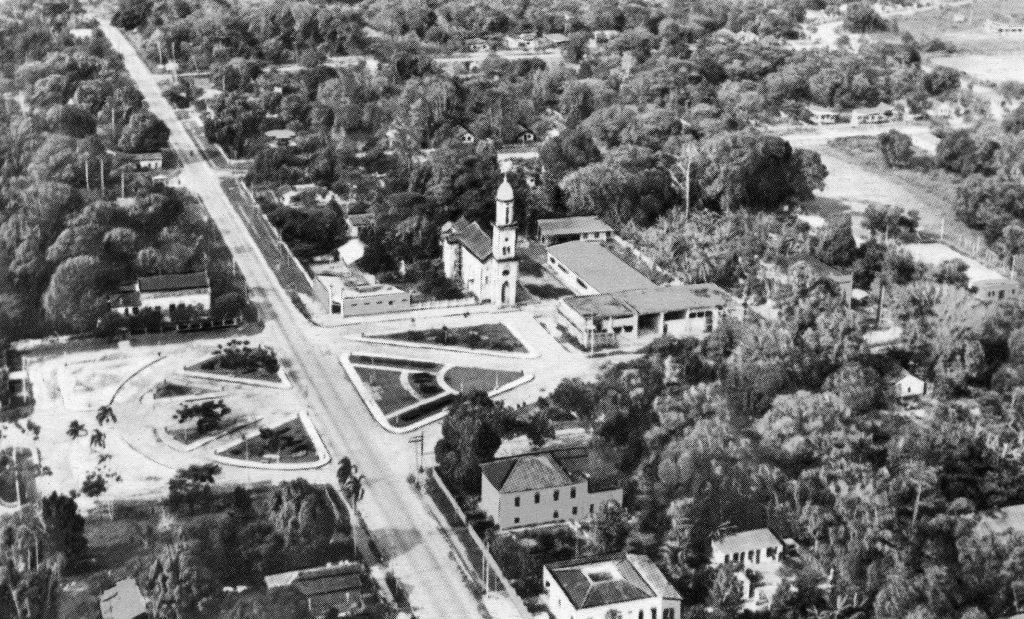 Vista aérea da Praça da Vila-Nossa Senhora de Nazaré