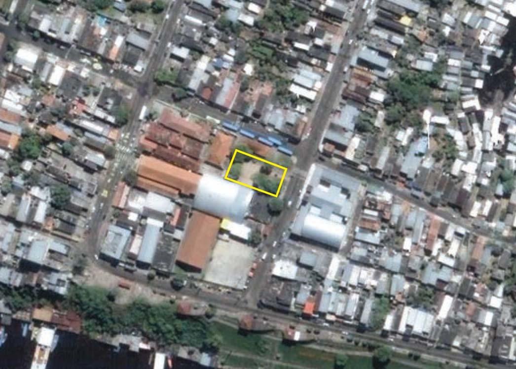 Imagem de satélite da Praça do Educandos