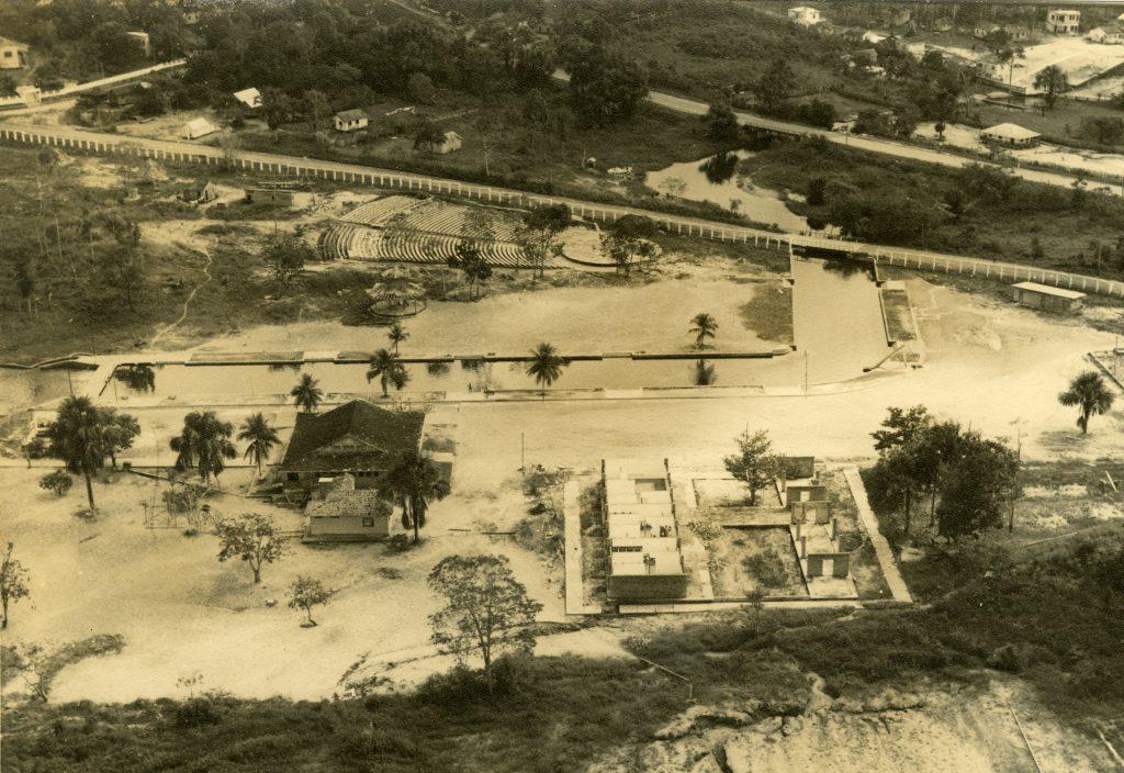 Vista aérea do Balneário do Parque Dez - Instituto Durango Duarte