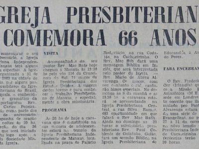 66 anos da Igreja Presbiteriana de Manaus