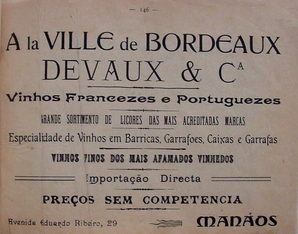 Propaganda da Loja La Villé de Bordeaux