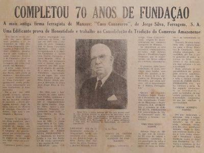 Comemoração dos 70 anos da Casa Canavarro