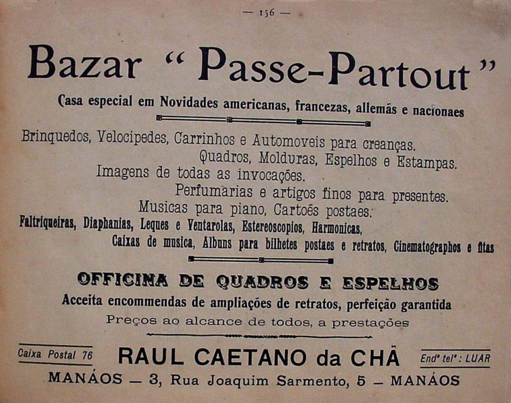 Anúncio do Bazar Passe-Partout