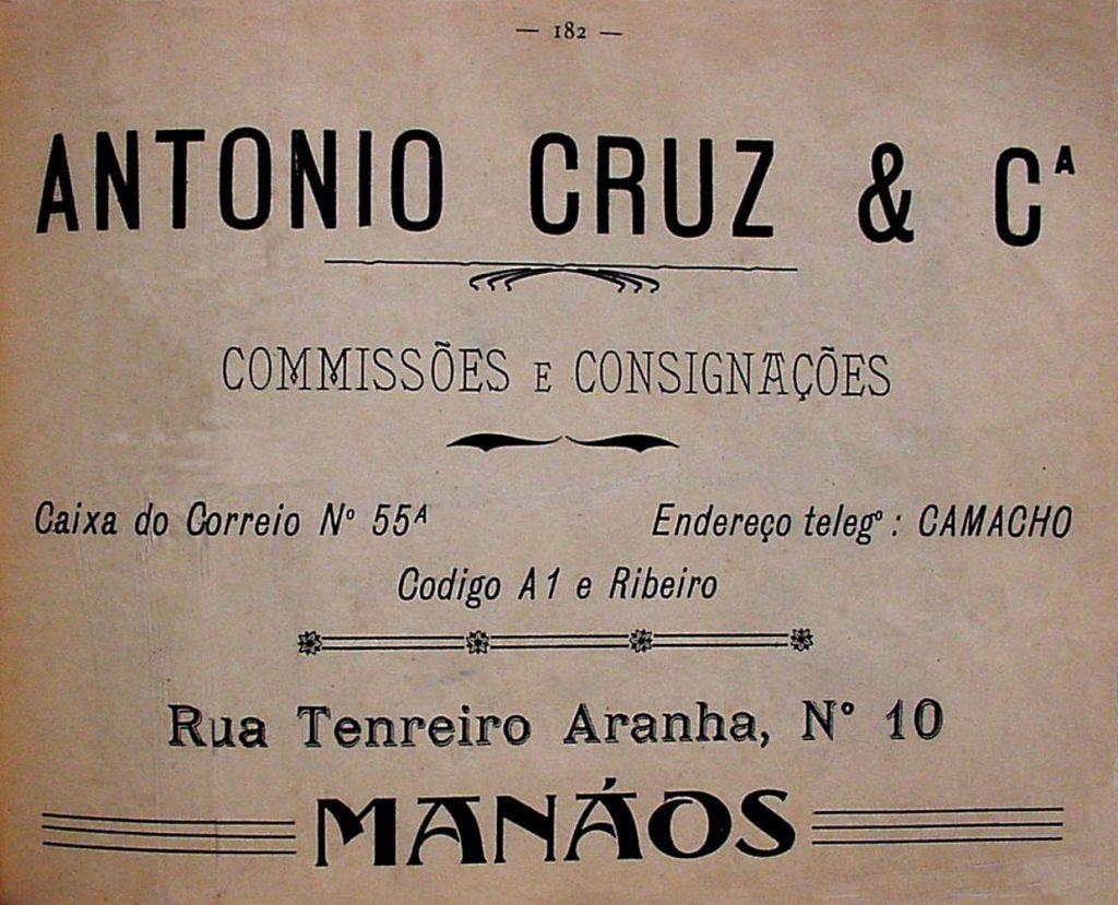 Propaganda da Empresa Antônio Cruz & Cia