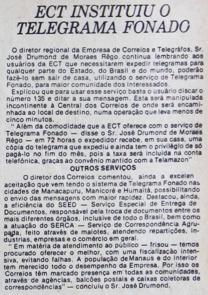 Telegrama Fonado da ECT