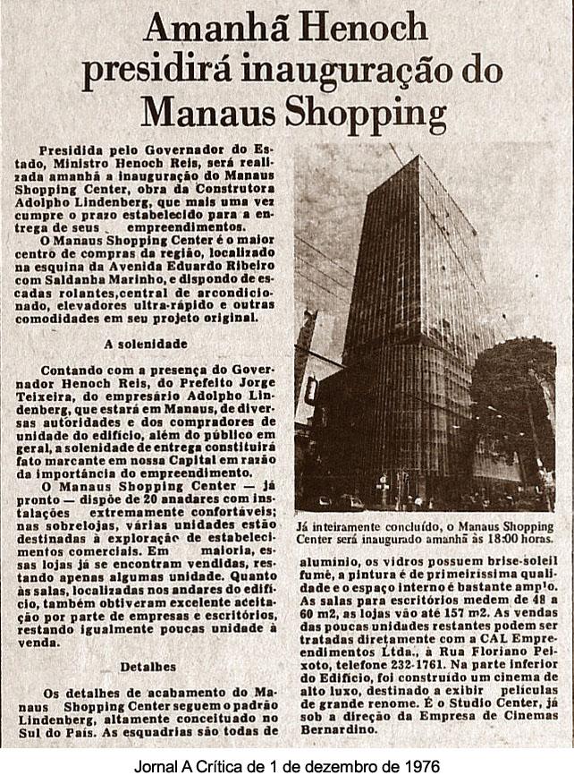 Inauguração do Manaus Shopping Center