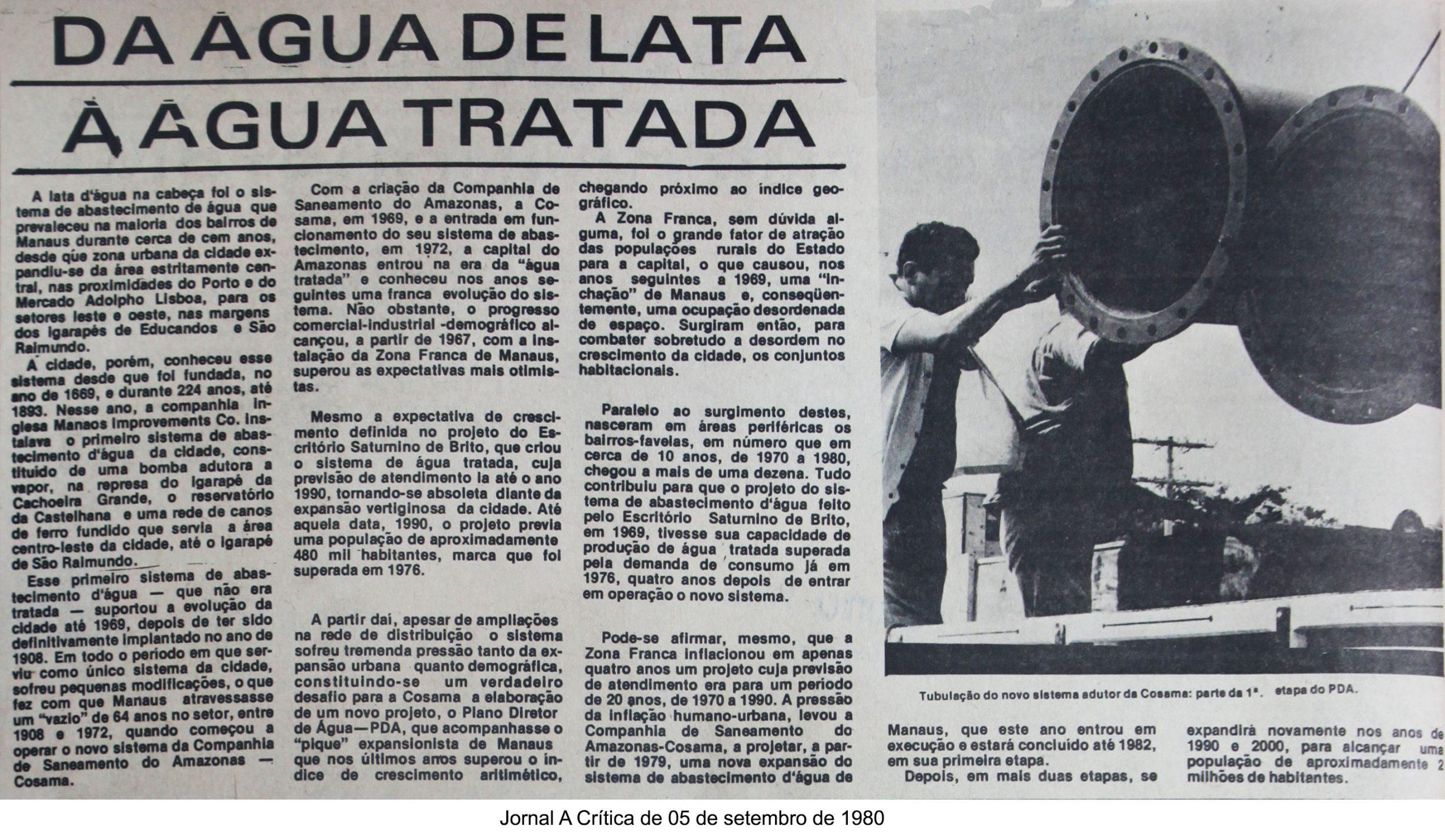 Abastecimento de água em Manaus
