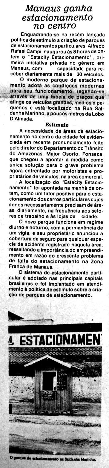 1º Estacionamento privativo de Manaus