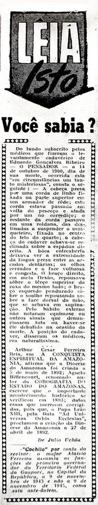 Laudo Cadavérico de Eduardo Ribeiro