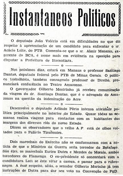 João Valério busca candidato à Prefeitura de Itacoatiara