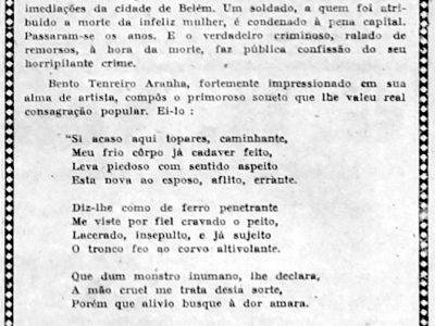 Soneto de Bento de Figueiredo Tenreiro Aranha