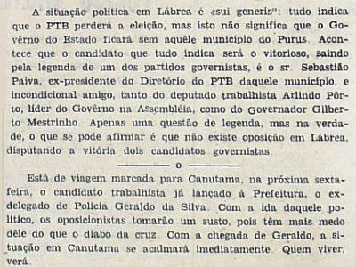 PTB perderá a Eleição em Lábrea
